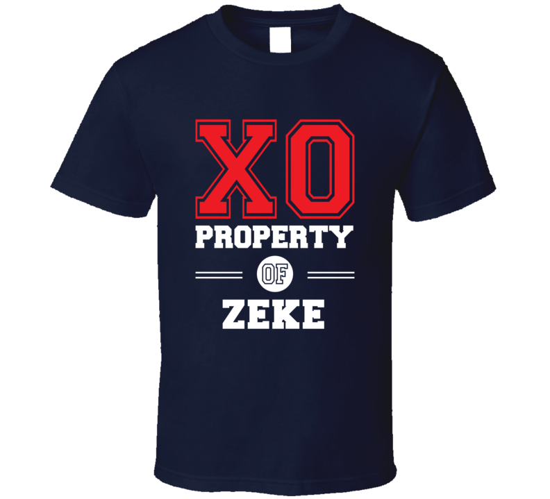 Property Of Zeke Custom Love First Name T Shirt