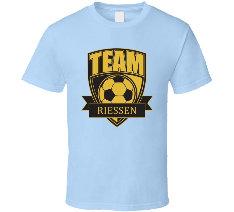 Team Riessen Last Name Soccer T Shirt