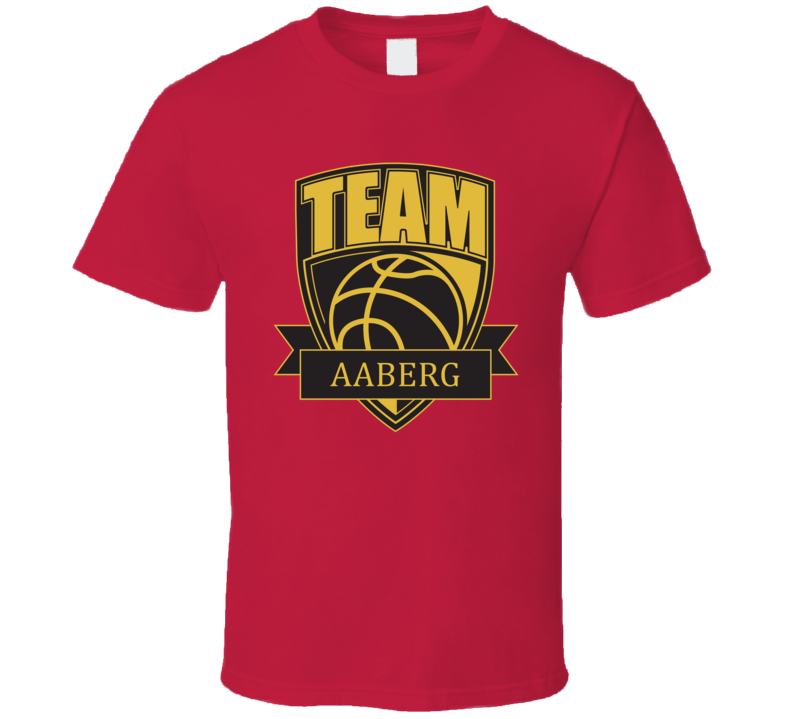 Team Aaberg Last Name Basketball T Shirt