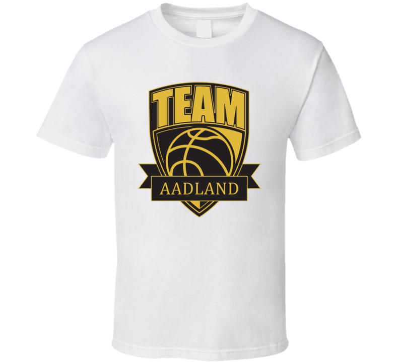 Team Aadland Last Name Basketball T Shirt