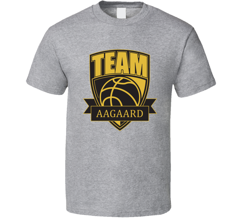 Team Aagaard Last Name Basketball T Shirt