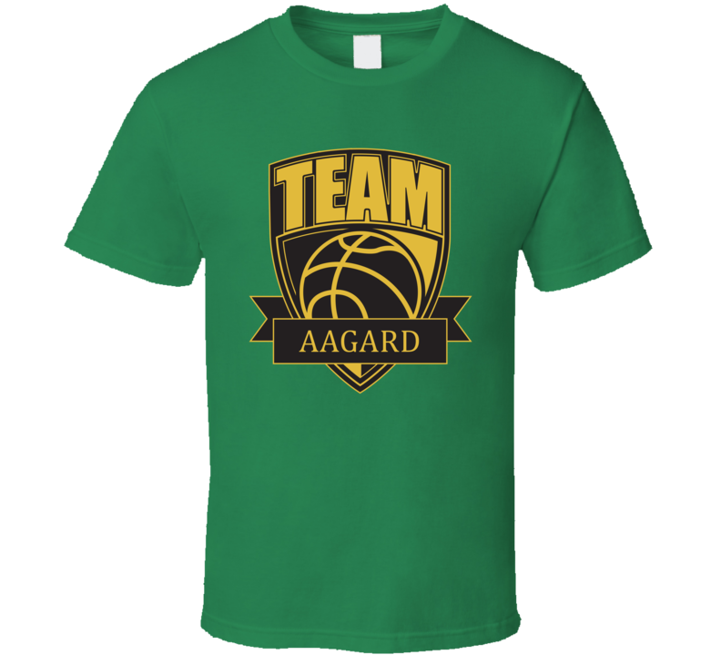 Team Aagard Last Name Basketball T Shirt
