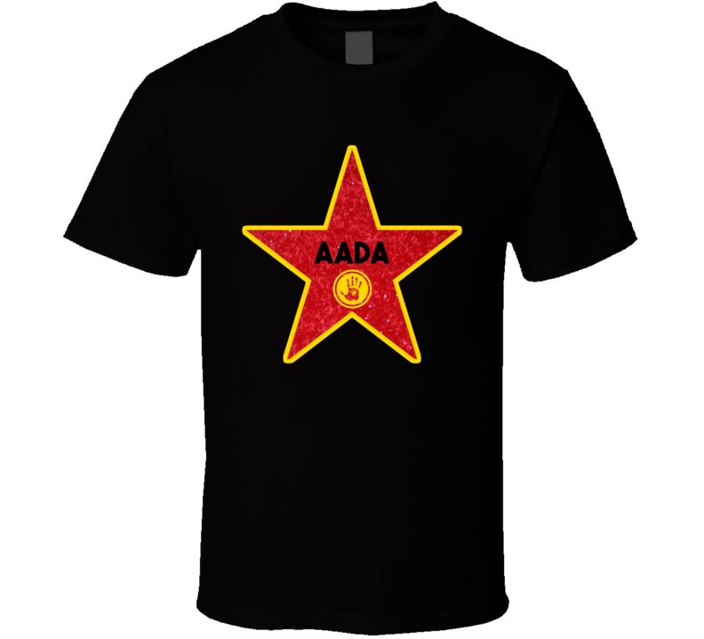 Aada Hollywood Walk Of Fame Star Name T Shirt