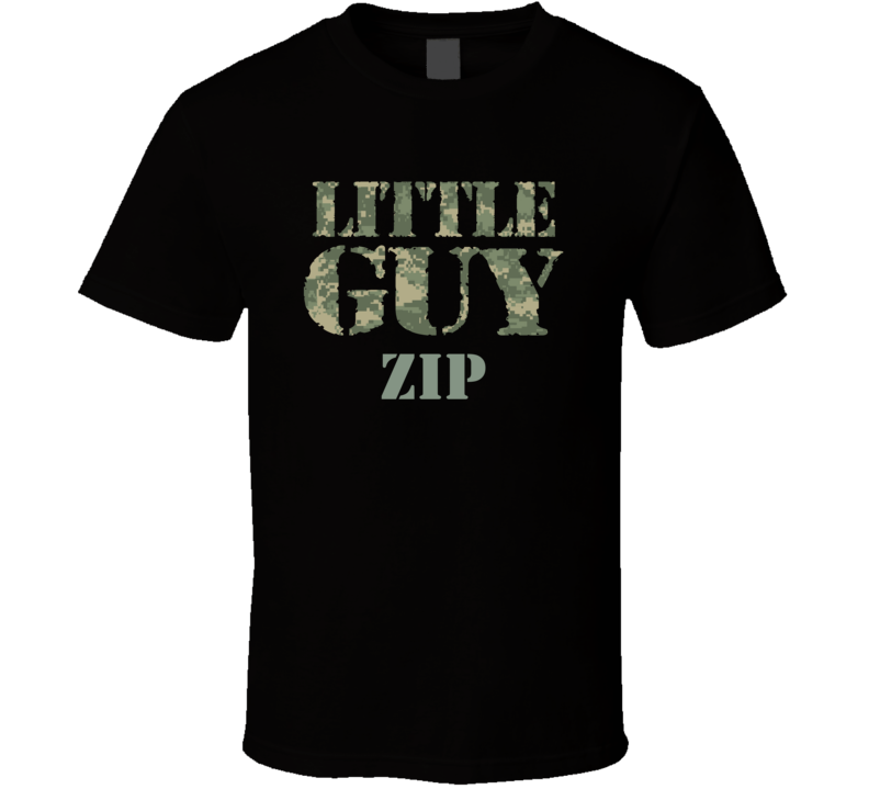Little Guy Zip Personalized Name T Shirt