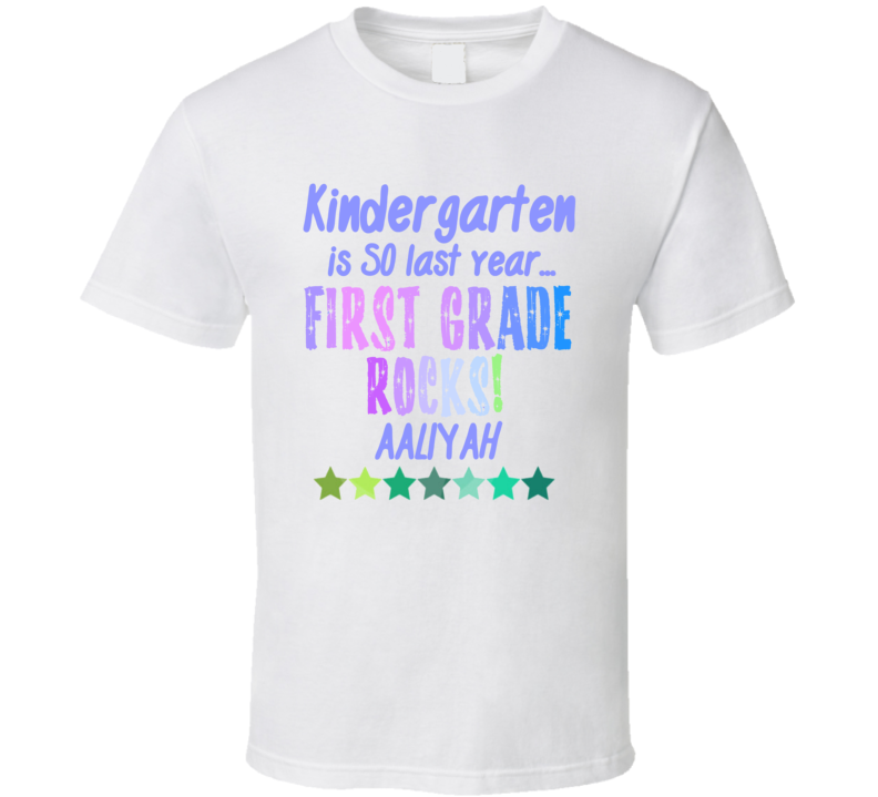 First Grade Rocks Aaliyah Personalized Name T Shirt