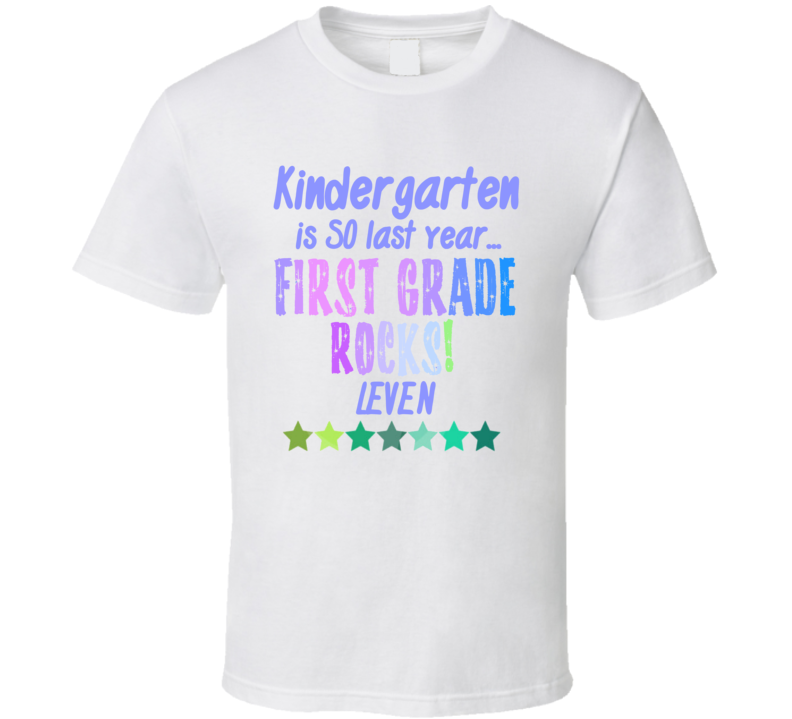 First Grade Rocks Leven Personalized Name T Shirt