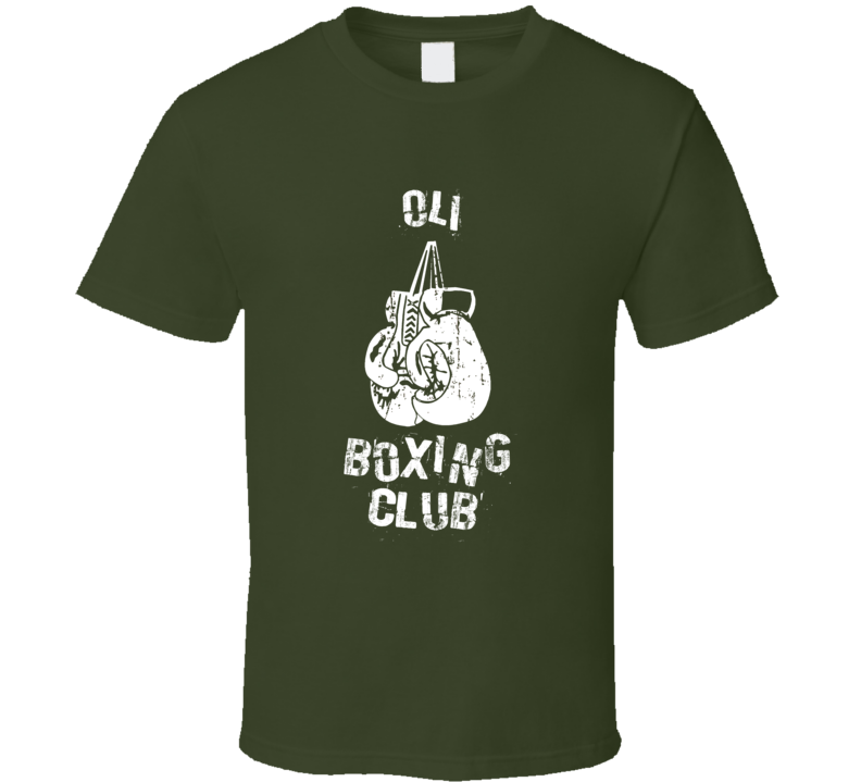 Oli Boxing Club First Name T Shirt