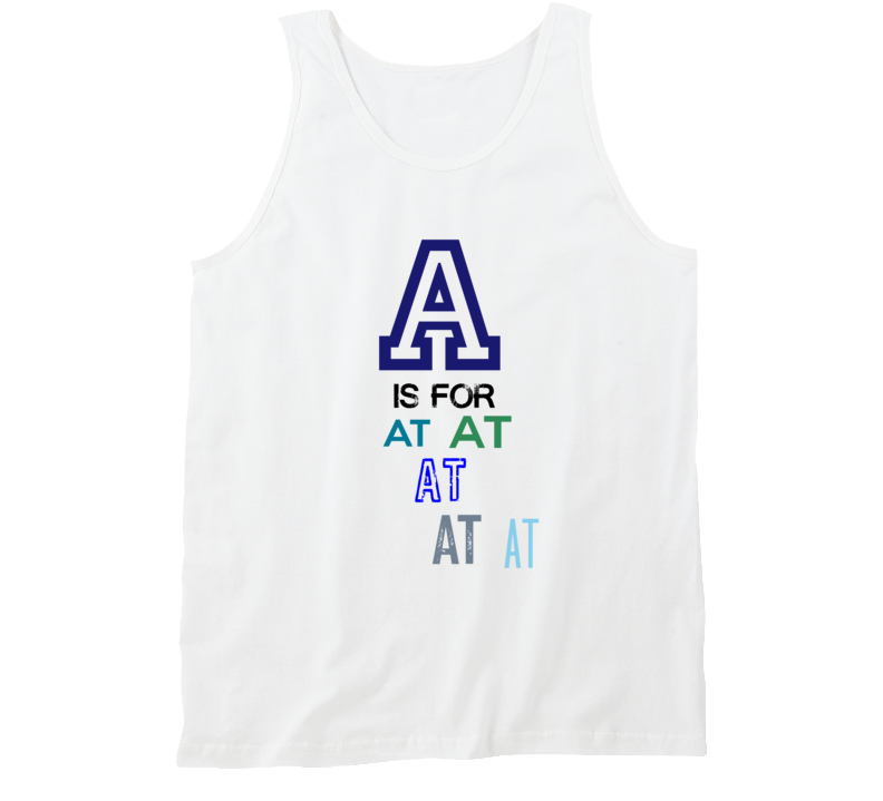 A Is For AT Cool Personalized Name Alphabet Collage Tank Top