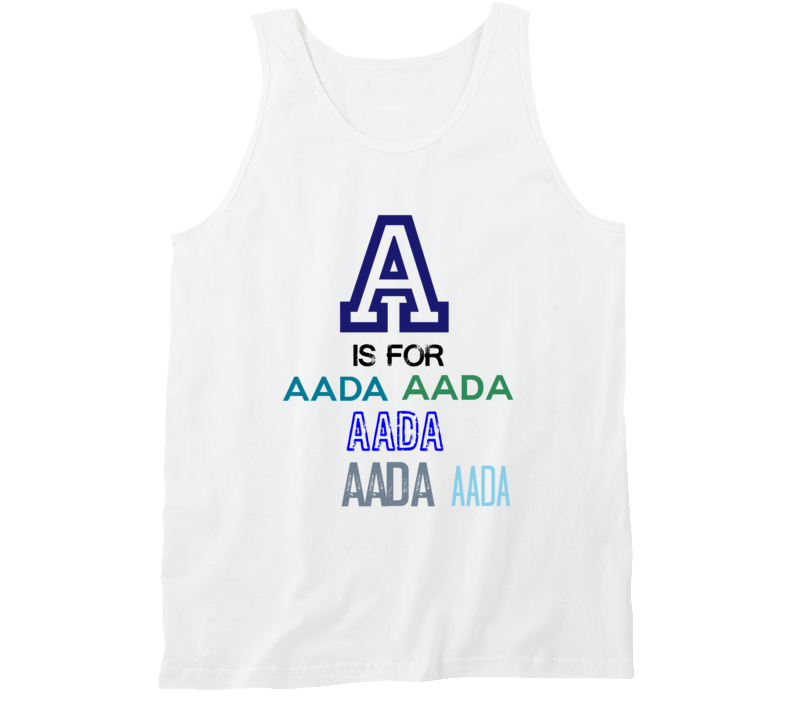 A Is For Aada Cool Personalized Name Alphabet Collage Tank Top