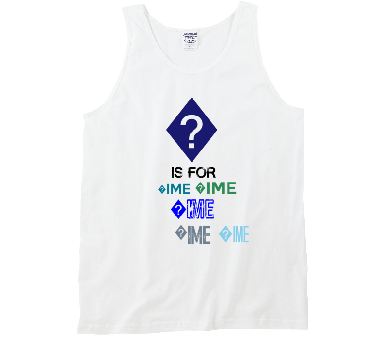 ? Is For ?ime Cool Personalized Name Alphabet Collage Tank Top