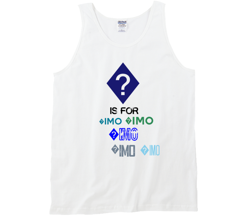 ? Is For ?imo Cool Personalized Name Alphabet Collage Tank Top