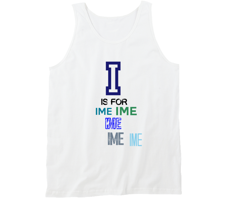 I Is For Ime Cool Personalized Name Alphabet Collage Tank Top