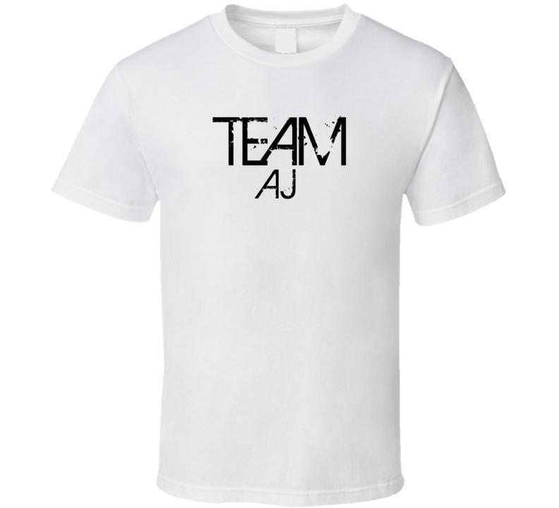 Team Sports Last First Name Aj T Shirt