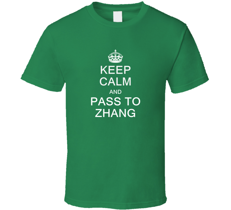 Keep Calm And Pass To Zhang T Shirt