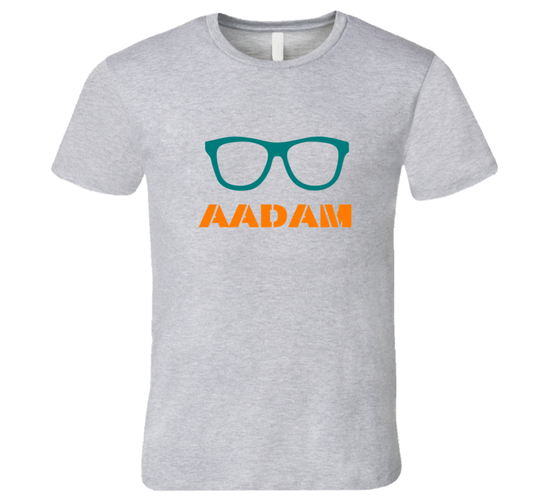 Aadam Funny Cute Nerd Glasses T Shirt