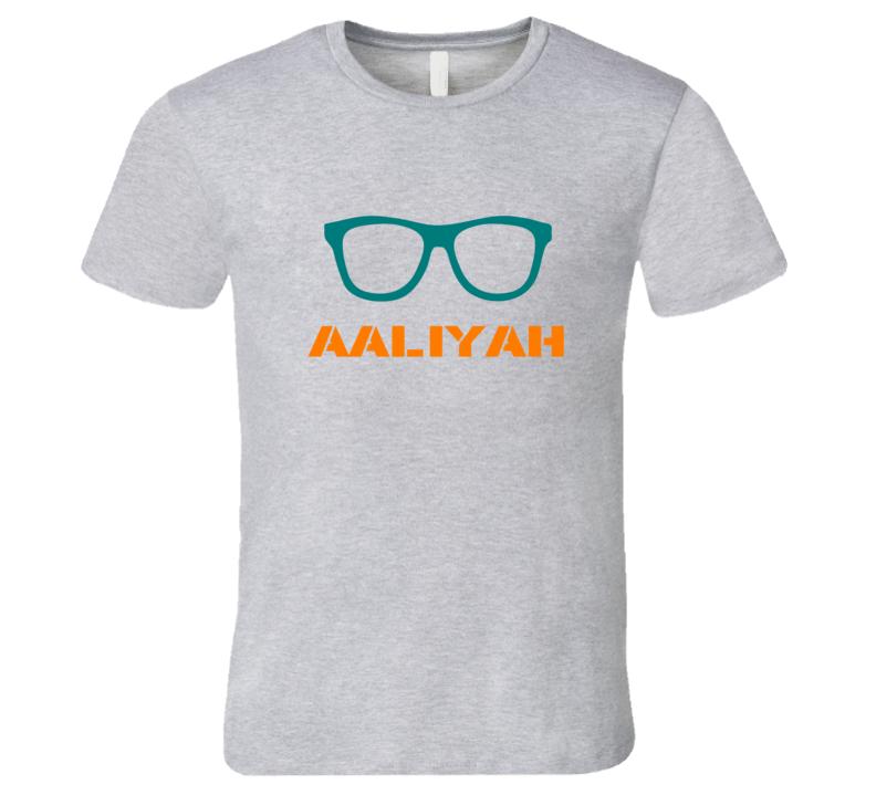 Aaliyah Funny Cute Nerd Glasses T Shirt
