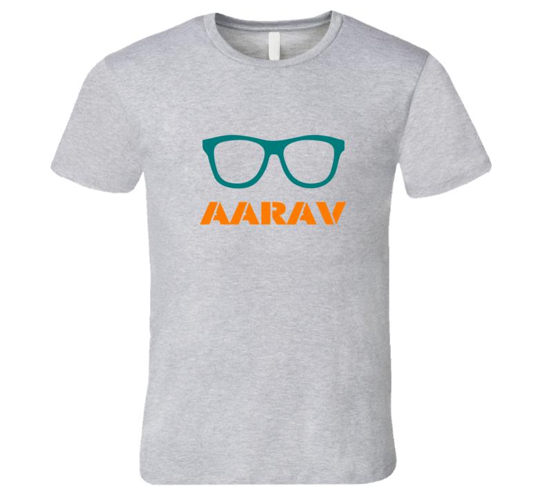 Aarav Funny Cute Nerd Glasses T Shirt