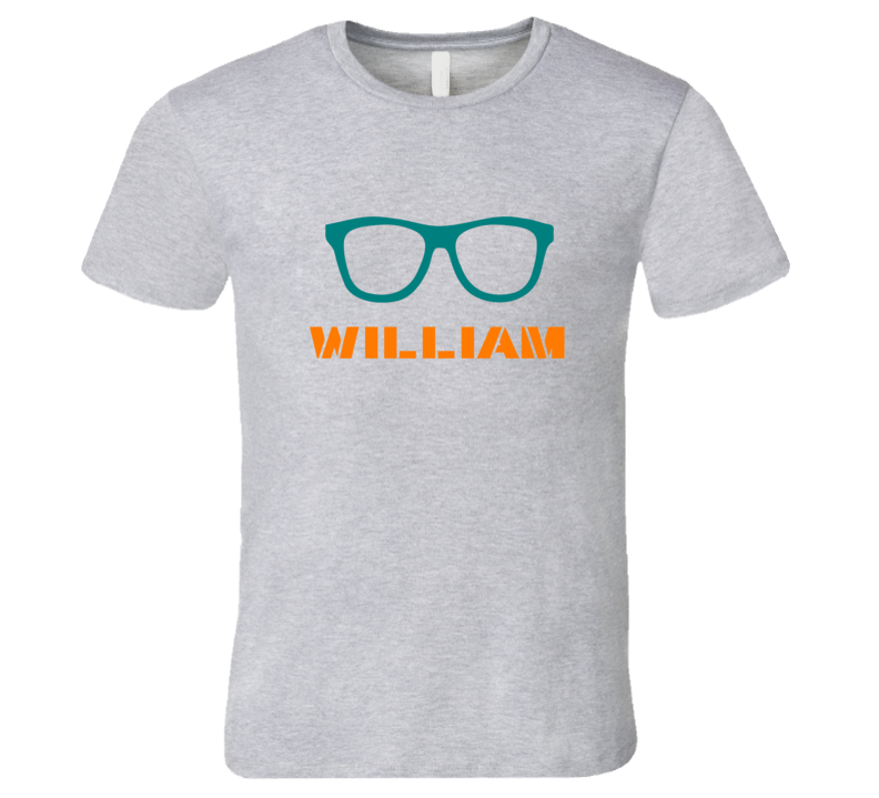 William Funny Cute Nerd Glasses T Shirt