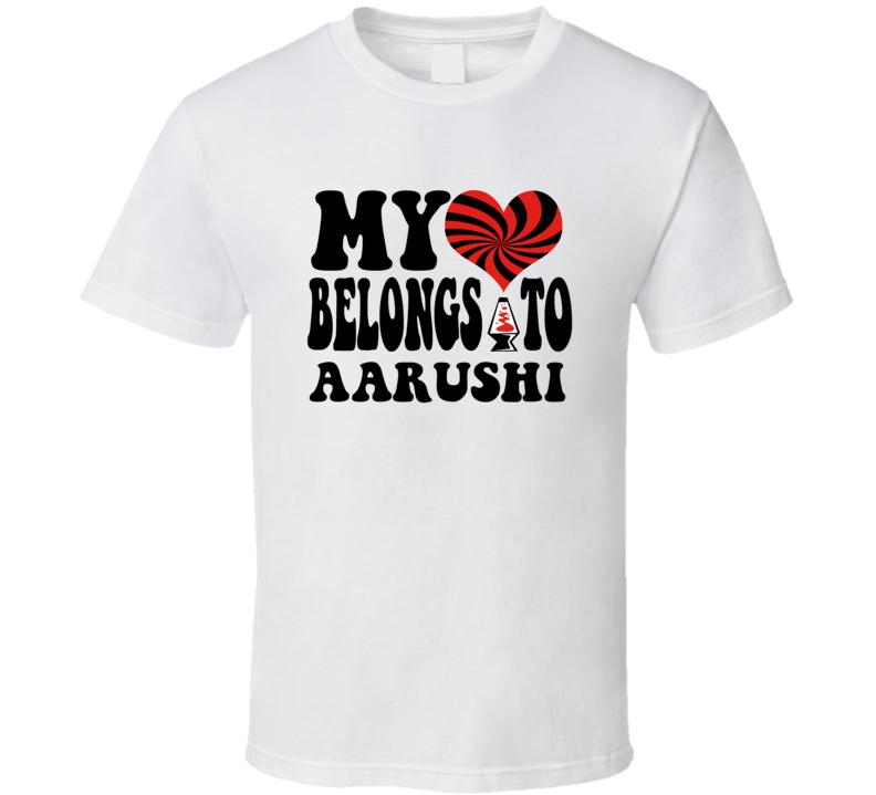 My Heart Belongs Love Aarushi T Shirt