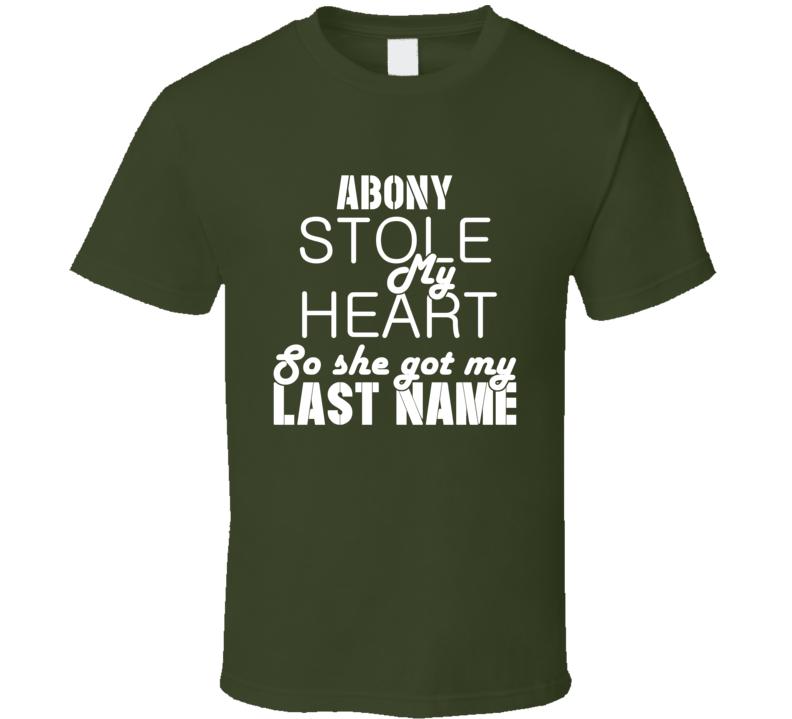 Abony Stole My Heart Trending T Shirt