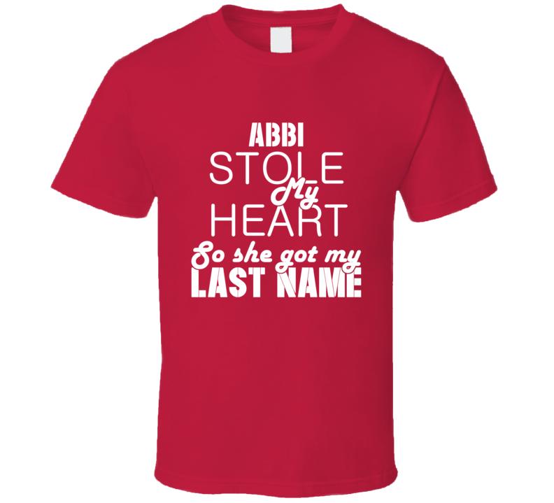 Abbi Stole My Heart Trending T Shirt