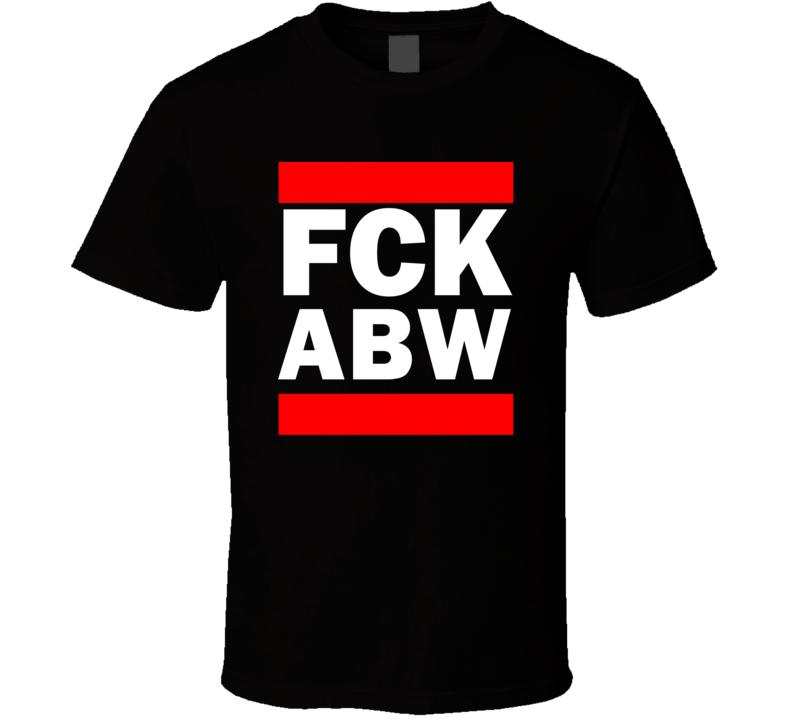 Fck ABW Aruba Funny Graphic Patriotic Parody Black T Shirt