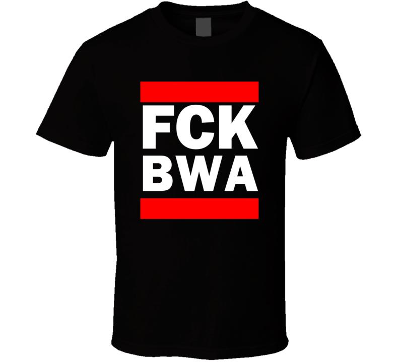 Fck BWA Botswana Funny Graphic Patriotic Parody Black T Shirt