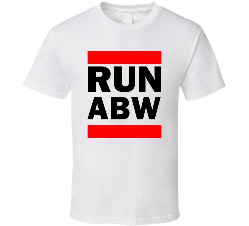 Run ABW Aruba Funny Graphic Patriotic Parody T Shirt