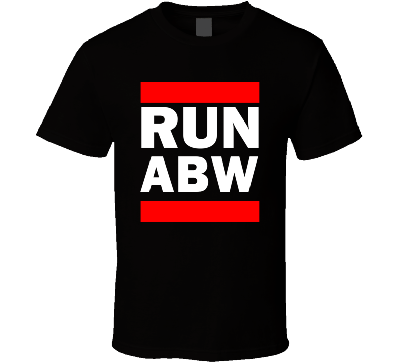 Run ABW Aruba Funny Graphic Patriotic Parody Black T Shirt