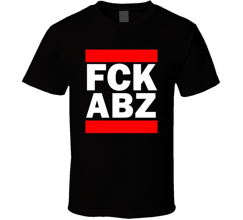 Fck ABZ Scotland United Kingdom Dyce   Funny Graphic Patriotic Parody Black T Shirt