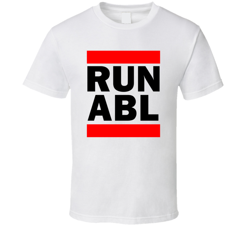Run ABL AK USA     Funny Graphic Patriotic Parody T Shirt