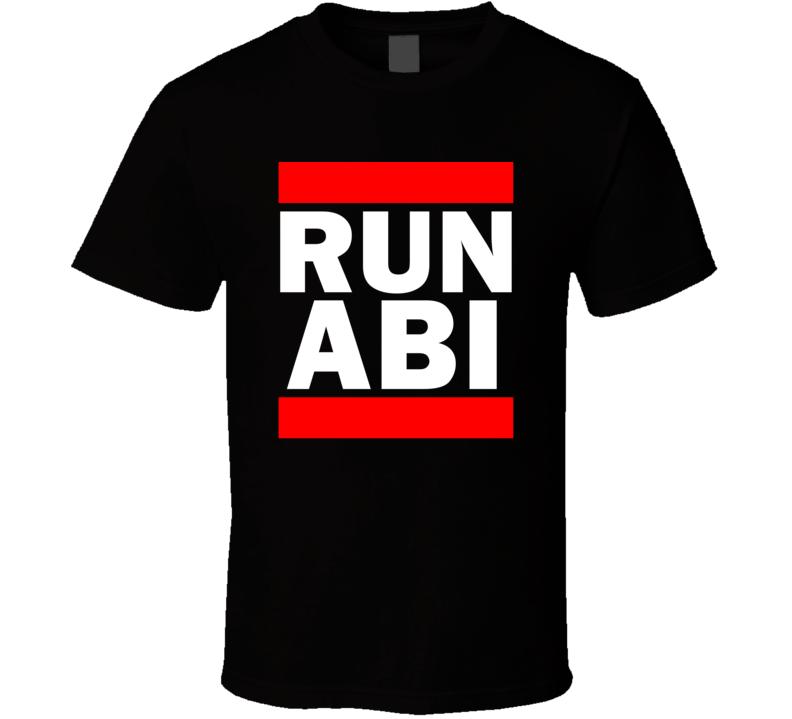 Run ABI TX USA Municipal    Funny Graphic Patriotic Parody Black T Shirt