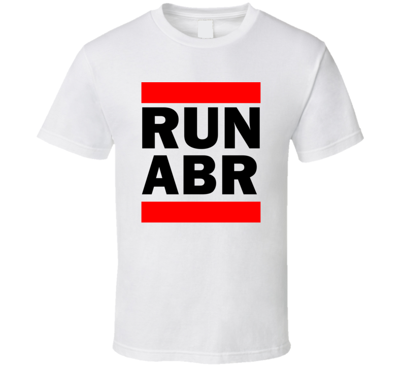 Run ABR SD USA Aberdeen Regional   Funny Graphic Patriotic Parody T Shirt