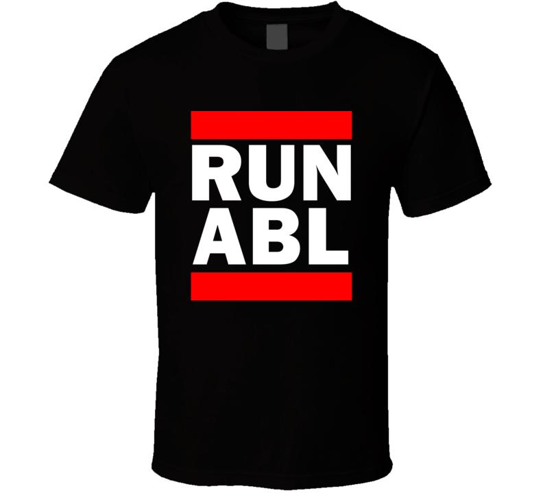 Run ABL AK USA     Funny Graphic Patriotic Parody Black T Shirt