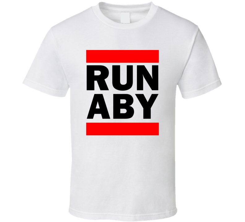 Run ABY GA USA Dougherty County   Funny Graphic Patriotic Parody T Shirt