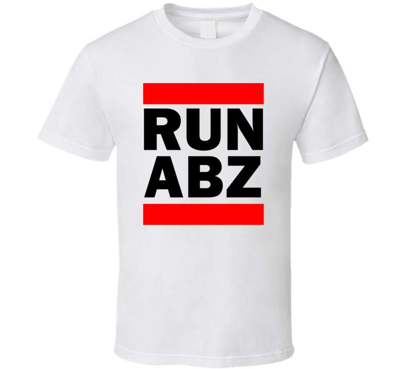 Run ABZ Scotland United Kingdom Dyce   Funny Graphic Patriotic Parody T Shirt