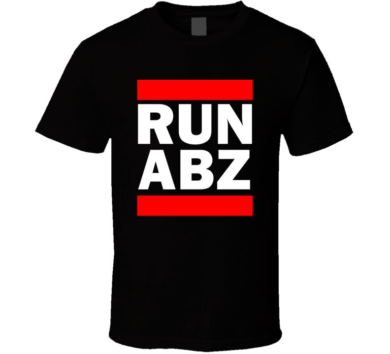 Run ABZ Scotland United Kingdom Dyce   Funny Graphic Patriotic Parody Black T Shirt
