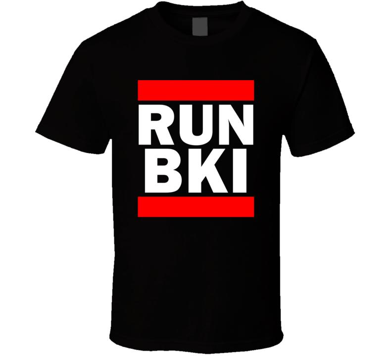 Run BKI Sabah Malaysia Kota Kinabalu   Funny Graphic Patriotic Parody Black T Shirt