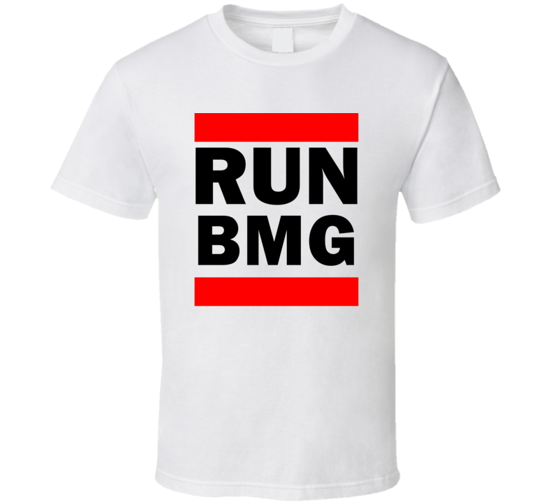 Run BMG IN USA Monroe County   Funny Graphic Patriotic Parody T Shirt