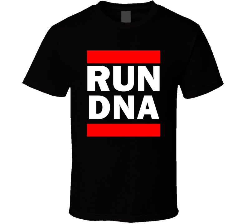 Run DNA Okinawa Japan     Funny Graphic Patriotic Parody Black T Shirt
