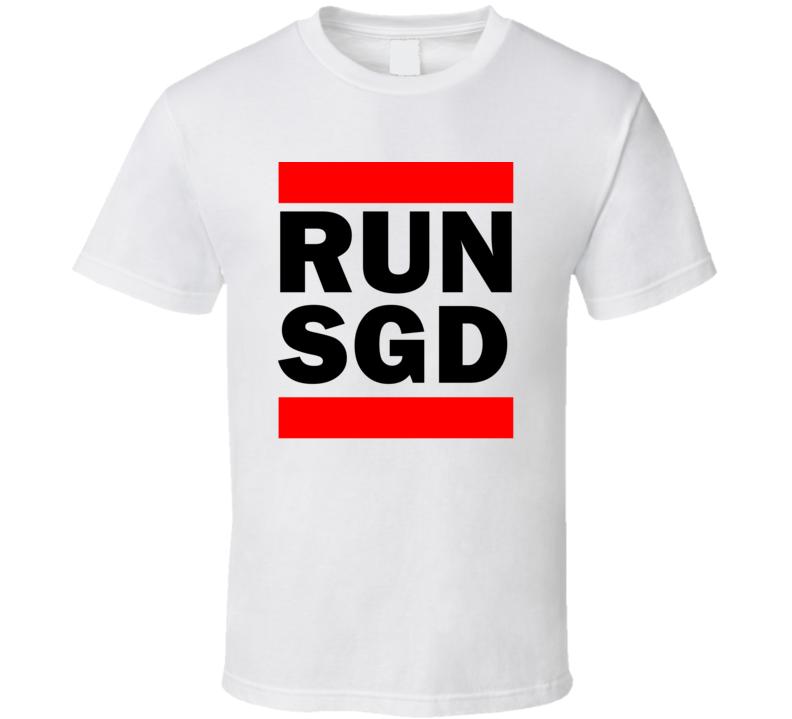 Run SGD Denmark Sonderborg     Funny Graphic Patriotic Parody T Shirt