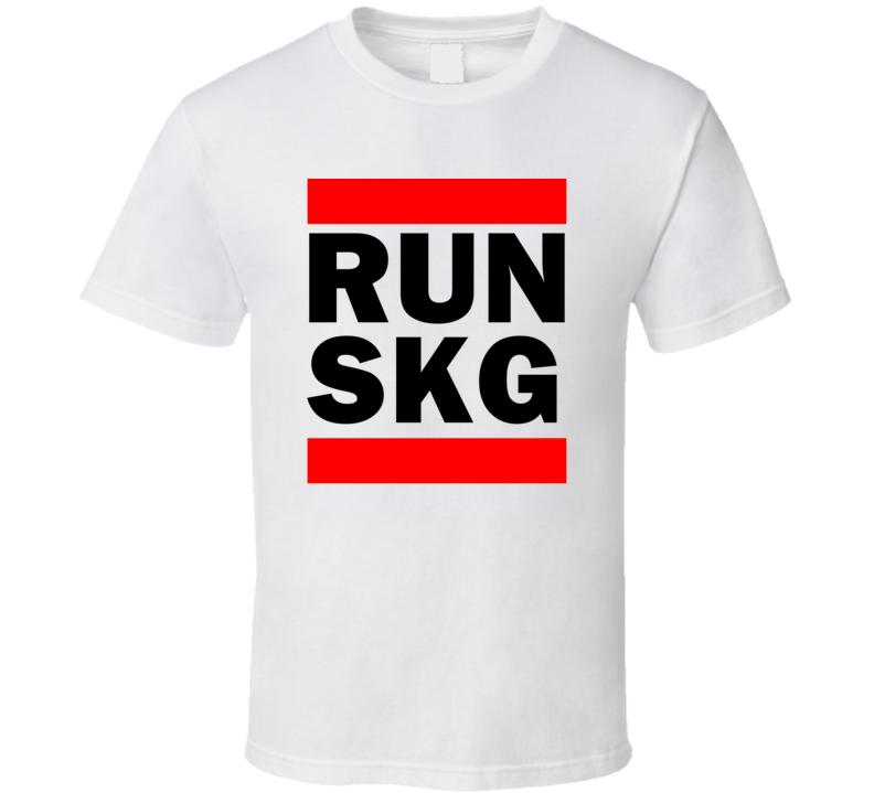 Run SKG Greece Thessaloniki     Funny Graphic Patriotic Parody T Shirt