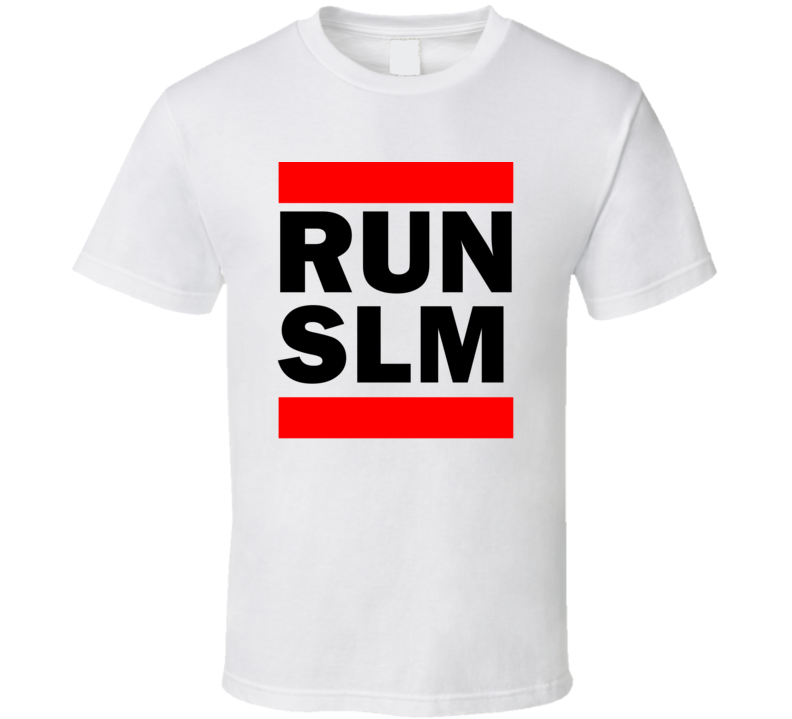 Run SLM Spain      Funny Graphic Patriotic Parody T Shirt