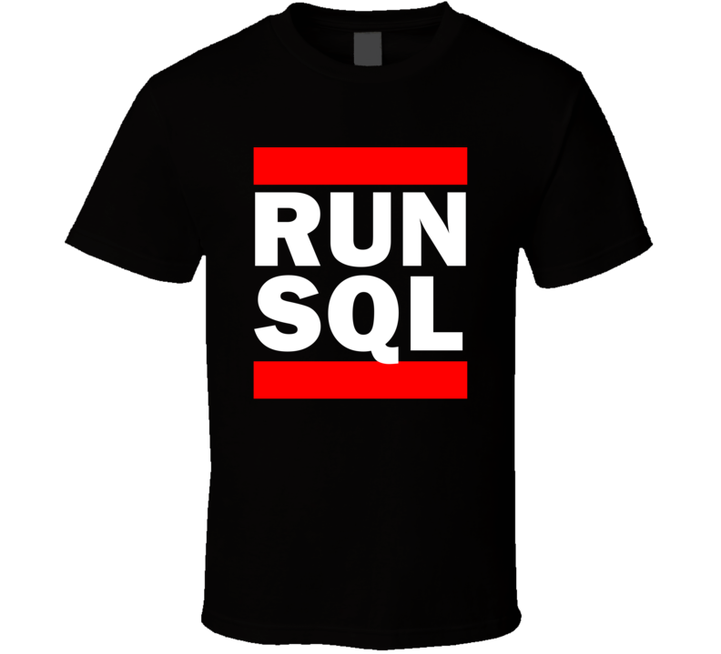 Run SQL California United States    Funny Graphic Patriotic Parody Black T Shirt