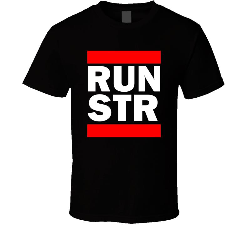 Run STR Germany Echterdingen     Funny Graphic Patriotic Parody Black T Shirt