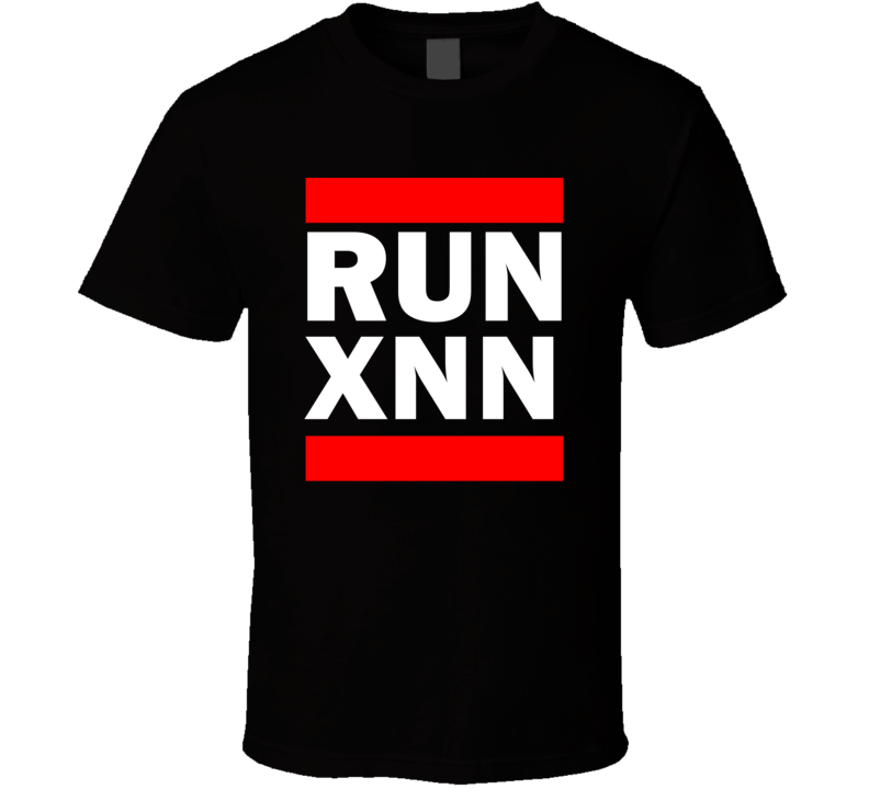 Run XNN China      Funny Graphic Patriotic Parody Black T Shirt