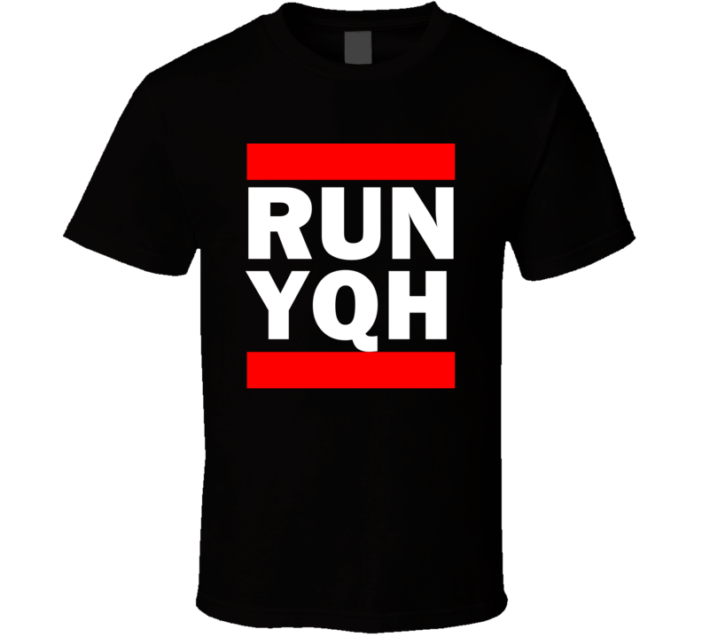 Run YQH Yukon Territory Canada Watson Lake  Funny Graphic Patriotic Parody Black T Shirt