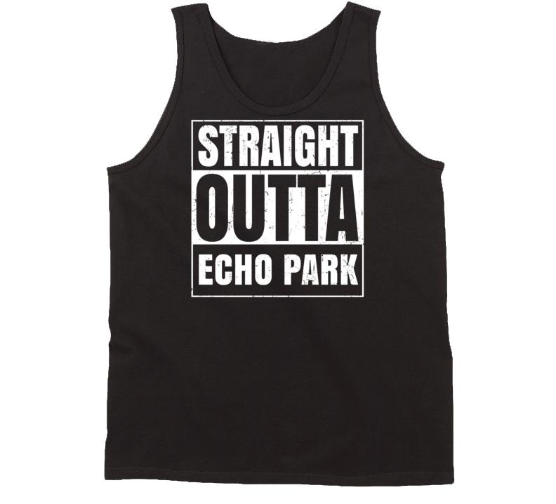 Straight Outta Echo Park City US Neighbourhood USA Parody Tanktop