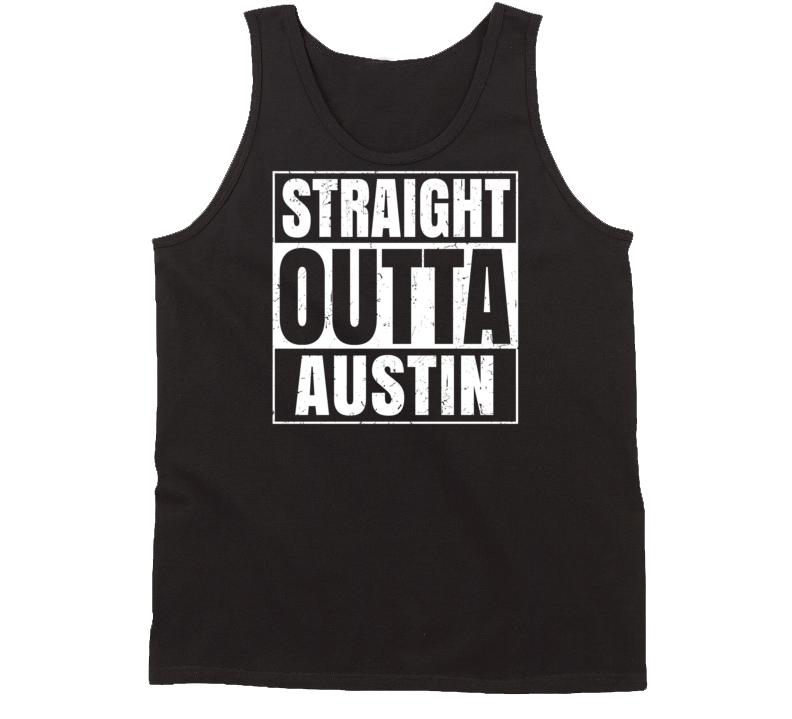 Straight Outta Austin Indiana Parody Grunge City Tanktop