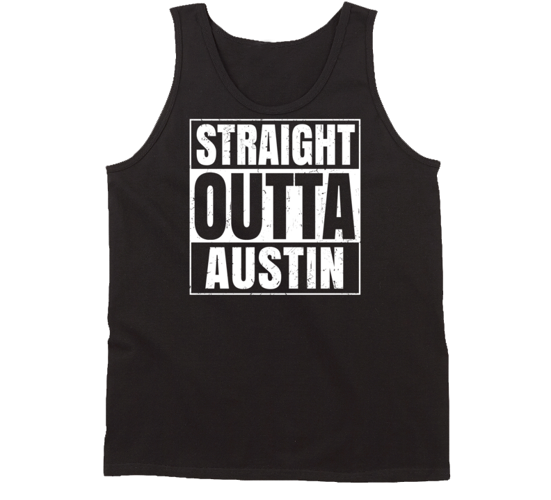 Straight Outta Austin Minnesota Parody Grunge City Tanktop